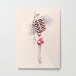 Mick Microphone Metal Print