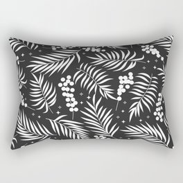 Minimal Mistletoe Bw Rectangular Pillow