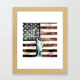 Vintage Patriotic American Liberty Framed Art Print
