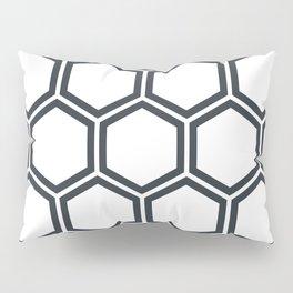 Hexagon White Pillow Sham