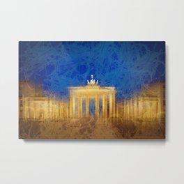 Modern Art BERLIN Brandenburg Gate Metal Print