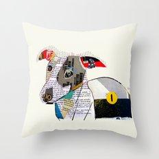 joey the greyhound Throw Pillow