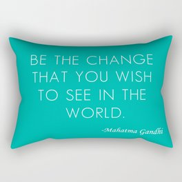 Mahatma Ghandi quote Rectangular Pillow