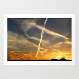Sky Writing Art Print