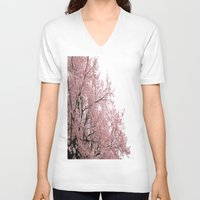 cherry blossoms V-neck T-shirts featuring cherry blossoms by 2sweet4words Designs