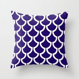 MODERN SCALES GEOMETRIC | navy white Throw Pillow