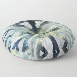 Yoga in Translucent Agate and Mother of pearl Floor Pillow