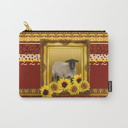 Frame Design yellow Sheep Carry-All Pouch