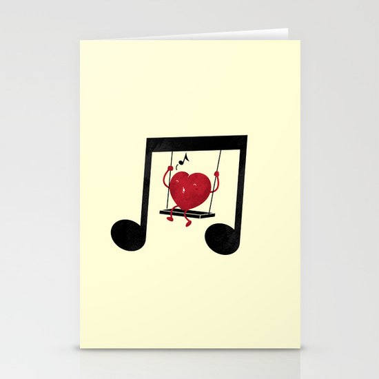 swing a LOVE song Stationery Cards