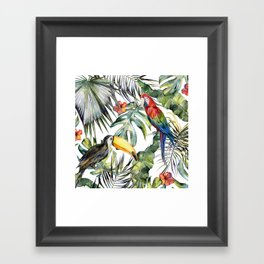 TROPICAL JUNGLE Framed Art Print