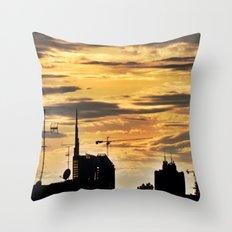 Milano City Skyline {Italy} Throw Pillow