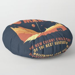 Welcome to Mars Floor Pillow