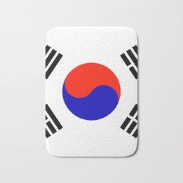 South Korean Flag Logo Bath Mat