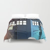 police Duvet Covers featuring The Police Box by KiloWhat