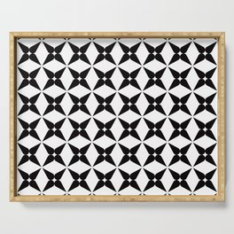 Geometric Pattern 245 (black crosses) Serving Tray