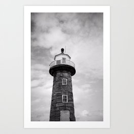 Whitby Lighthouse Art Print