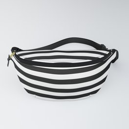 Black White Stripes Minimalist Fanny Pack