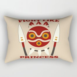 Fight like a princess Rectangular Pillow