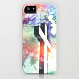 Holy Cross Pastel Distressed iPhone Case