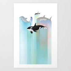 Ever Blue Art Print