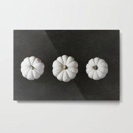 White Pumpkin Trio Metal Print
