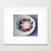 fruits Framed Art Prints featuring fruits  by Claudia Drossert