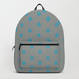 Humes hand in blue, Hamsa Backpack