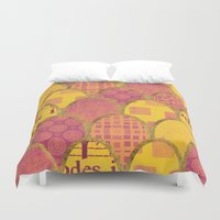 scales Duvet Covers featuring Scales by Sweet Colors Gallery