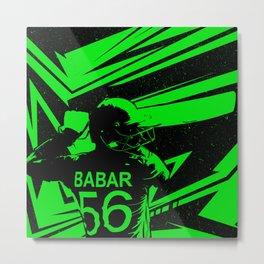 Babar Azam Illustration Metal Print