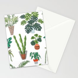 flowerpots pattern Stationery Cards