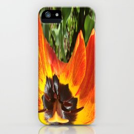 493 - Abstract Flower Design iPhone Case