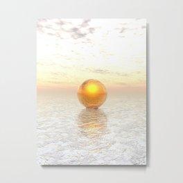 Frozen Gold Metal Print