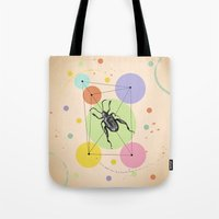 bug Tote Bags featuring bug by mark ashkenazi