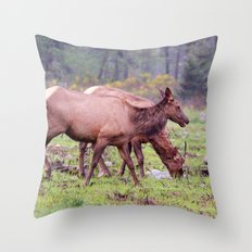 Snoqualmie Valley Elk Throw Pillow
