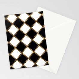 Geometric ornament gold seamless pattern Stationery Cards