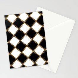 Geometric ornament gold seamless pattern Stationery Cards