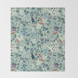 Herb Garden Throw Blanket