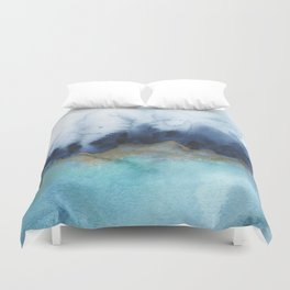 Mystic abstract watercolor Duvet Cover