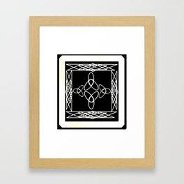 Celtic Deco Black and White Framed Art Print