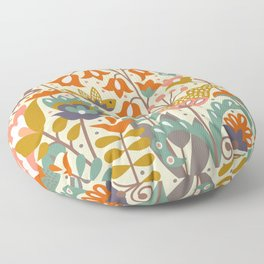 Forest flowers Floor Pillow