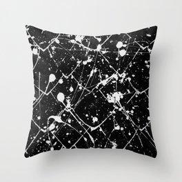 Nikita - black Throw Pillow