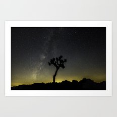Milky Way at Joshua Tree Art Print