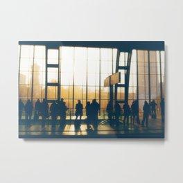 People Silhouettes Metal Print