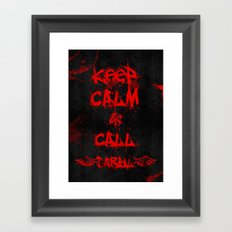 Keep Calm & Call Daryl Dixon!!! Framed Art Print