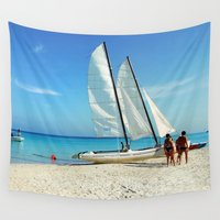 cuba Wall Tapestries featuring Cuba Beach by Parrish