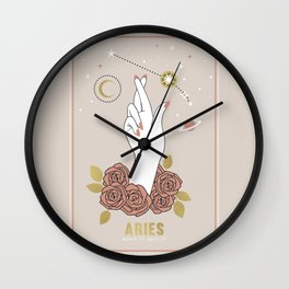 Aries Zodiac Series Wall Clock