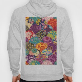 Japanese Wave Seigaiha Seamless Patterns Symbols Hoody