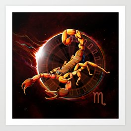Horoscope Signs-Scorpio Art Print