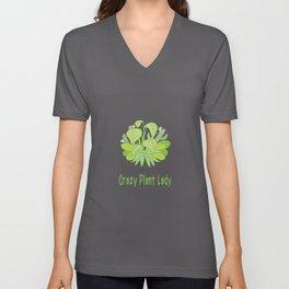 Crazy Plant Lady Unisex V-Neck