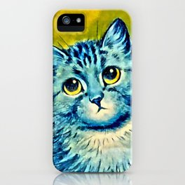 BLUE CAT - Louis Wain Art iPhone Case